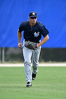 New York Yankees Michael O'Neill (47) during practice before a minor league spring training game against the Toronto Blue Jays on March 24, 2015 at the Englebert Complex in Dunedin, Florida.  (Mike Janes/Four Seam Images)