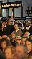 Partecipanti alla marcia per il 70esimo anniversario del rastrellamento e della deportazione degli ebrei di Roma nei campi di concentramento nazisti, a Roma, 16 ottobre 2013.<br /> People attend the march marking the 70th anniversary of the roundup and deportation of Rome's Jews to concentration camps, in Rome's ghetto neighborhood, 16 October 2013.<br /> UPDATE IMAGES PRESS/Isabella Bonotto