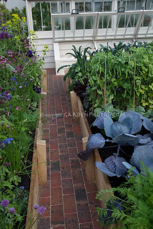Cold Frame in Vegetable Garden