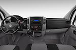 Stock photo of straight dashboard view of a 2014 Volkswagen CRAFTER 2.0TDI 4 Door Cargo Van Dashboard