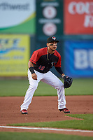 Erie SeaWolves third baseman Isaac Paredes (18) during an Eastern League game against the Altoona Curve on June 3, 2019 at UPMC Park in Erie, Pennsylvania.  Altoona defeated Erie 9-8.  (Mike Janes/Four Seam Images)