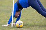 St Johnstone Training....30.04.21<br />Liam Craig doing some stretches during training at McDiarmid Park ahead of tomorrows game at Hibs.<br />Picture by Graeme Hart.<br />Copyright Perthshire Picture Agency<br />Tel: 01738 623350  Mobile: 07990 594431