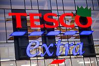 Tesco Extra supermarket sign
