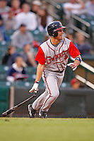June 3, 2009:  Left Fielder J.C. Holt of the Gwinnett Braves at bat during a game at Frontier Field in Rochester, NY.  The Gwinnett Braves are the International League Triple-A affiliate of the Atlanta Braves.  Photo by:  Mike Janes/Four Seam Images