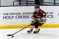 WORCESTER, MA - JANUARY 16: Caroline DiFiore #10 of Boston College looks to pass during a game between Boston College and Holy Cross at Hart Center Rink on January 16, 2021 in Worcester, Massachusetts.