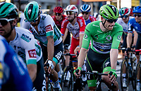 Green Jersey Sam Bennett (IRE/Deceuninck-Quick Step) rolling in at the finish after yet another tough day on the bike<br /> <br /> Stage 14 from Clermont-Ferrand to Lyon (194km)<br /> <br /> 107th Tour de France 2020 (2.UWT)<br /> (the 'postponed edition' held in september)<br /> <br /> ©kramon