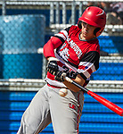 WATERBURY, CT 073021JS12 CT Gamecocks  Devin Fuegen (31) takes a cut at a pitch during their Mickey Mantle World Series game against the US9 Prospects Friday at Municipal Stadium in Waterbury. <br />  Jim Shannon Republican American