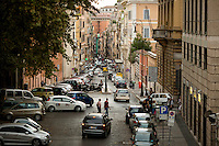 A busy street is seen on Tuesday, Sept. 22, 2015, in Rome, Italy. (Photo by James Brosher)