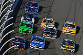 Monster Energy NASCAR Cup Series<br /> Daytona 500<br /> Daytona International Speedway, Daytona Beach, FL USA<br /> Sunday 18 February 2018<br /> Denny Hamlin, Joe Gibbs Racing, FedEx Express Toyota Camry, Ricky Stenhouse Jr., Roush Fenway Racing, Fastenal Ford Fusion and Ryan Newman, Richard Childress Racing, Bass Pro Shops / Cabela's Chevrolet Camaro<br /> World Copyright: Nigel Kinrade<br /> LAT Images