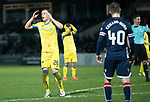 Ross County v St Johnstone…27.12.17…  Global Energy Stadium…  SPFL<br />Liam Craig recats as his late free kick goes just wide<br />Picture by Graeme Hart. <br />Copyright Perthshire Picture Agency<br />Tel: 01738 623350  Mobile: 07990 594431