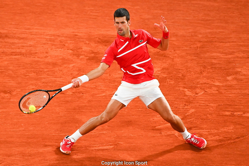 Novak DJOKOVIC of Serbia during the day fifteen men's final Roland Garros on October 11, 2020 in Paris, France. (Photo by Anthony Dibon/Icon Sport) - Roland Garros - Paris (France)