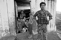 - Nicaragua, officer of Sandinista Army in a farm  north of Jinotega <br />