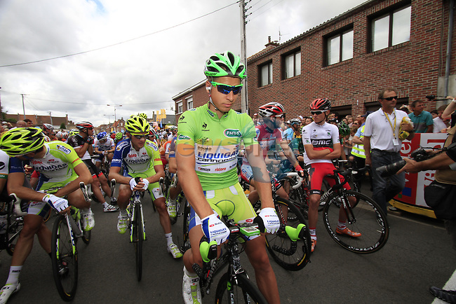 Peter Sagan (SVK) Liquigas-Cannondale lined up on the line just before the start of Stage 3 of the 99th edition of the Tour de France 2012, running 197km from Orchies to Boulogne-sur-Mere, France. 3rd July 2012.<br /> (Photo by Eoin Clarke/NEWSFILE)