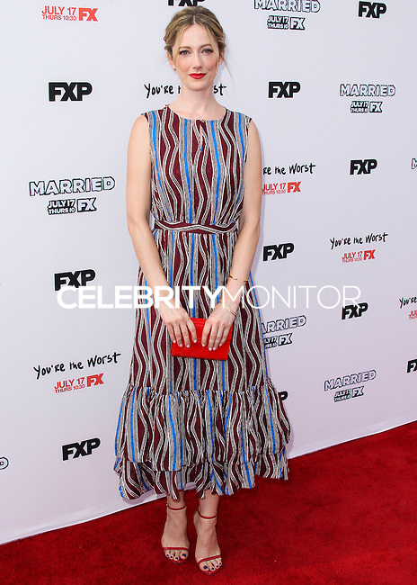 HOLLYWOOD, LOS ANGELES, CA, USA - JULY 14: Actress Judy Greer arrives at the Los Angeles Premiere Of FX's 'You're The Worst' And 'Married' held at Paramount Studios on July 14, 2014 in Hollywood, Los Angeles, California, United States. (Photo by Xavier Collin/Celebrity Monitor)