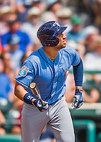 14 March 2016: Tampa Bay Rays first baseman James Loney in action during a pre-season Spring Training game against the Atlanta Braves at Champion Stadium in the ESPN Wide World of Sports Complex in Kissimmee, Florida. The Ray fell to the Braves 5-0 in Grapefruit League play. Mandatory Credit: Ed Wolfstein Photo *** RAW (NEF) Image File Available ***
