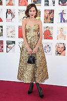 Alexa Chung<br /> arrives for the Vogue 100 Gala Dinner held in Kensington Gardens, London.<br /> <br /> <br /> ©Ash Knotek  D3122  23/05/2016