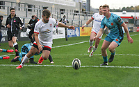 Sunday 25th October 2020   Ulster vs Dragons<br /> <br /> Louis Ludik drives over to score his second try for Ulster against the Dragons during the Guinness PRO14 match between Ulster and Dragons at Kingspan Stadium in Belfast. Photo by John Dickson / Dicksondigital