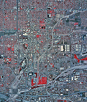 historical infrared aerial photograph of San Bernadino, California, 2002