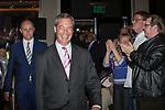 © Joel Goodman - 07973 332324 . 24/04/2014 . Manchester , UK . UKIP leader , NIGEL FARAGE , (c) arrives to address a UKIP conference rally at the Free Trade Hall in Manchester . Photo credit : Joel Goodman