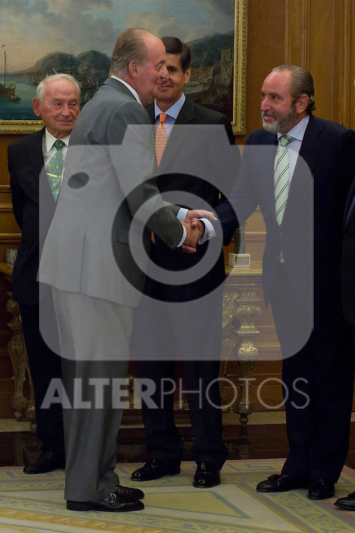 12.09,2012. King Juan Carlos I of Spain attend the delivery of 'XXIII FIES Journalism Award', awarded to Juan Manuel de Prada at the Zarzuela Palace. In the image King Juan Carlos of Spain  (Alterphotos/Marta Gonzalez)