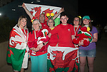 Wales Chloe Tutton's mum (Left) and friends and family leave the Gold Coast Optus Aquatic centre<br /> <br /> *This image must be credited to Ian Cook Sportingwales and can only be used in conjunction with this event only*<br /> <br /> 21st Commonwealth Games - Swimming - Day 3 - 07\04\2018 - Gold Coast Optus Aquatic centre - Gold Coast City - Australia