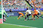 The Hague, Netherlands, June 13: Rogier Hofman #22 of The Netherlands tries to score during the field hockey semi-final match (Men) between The Netherlands and England on June 13, 2014 during the World Cup 2014 at Kyocera Stadium in The Hague, Netherlands. Final score 1-0 (1-0)  (Photo by Dirk Markgraf / www.265-images.com) *** Local caption ***