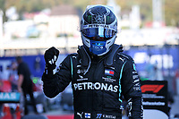 27th September 2020, Sochi, Russia; FIA Formula One Grand Prix of Russia, Race Day;  77 Valtteri Bottas FIN, Mercedes-AMG Petronas Formula One Team  wins the race and in parc ferme
