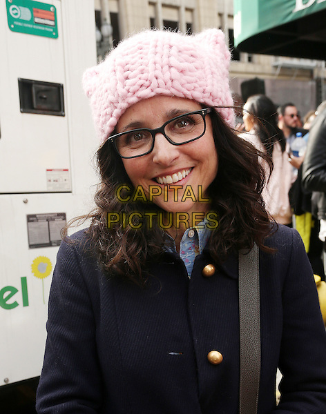 ALos Angeles CA - JANUARY 21: Julia Louis-Dreyfus, At Women's March Los Angeles, At Downtown Los Angeles In California on January 21, 2017. <br /> CAP/MPI/FS<br /> ©FS/MPI/Capital Pictures