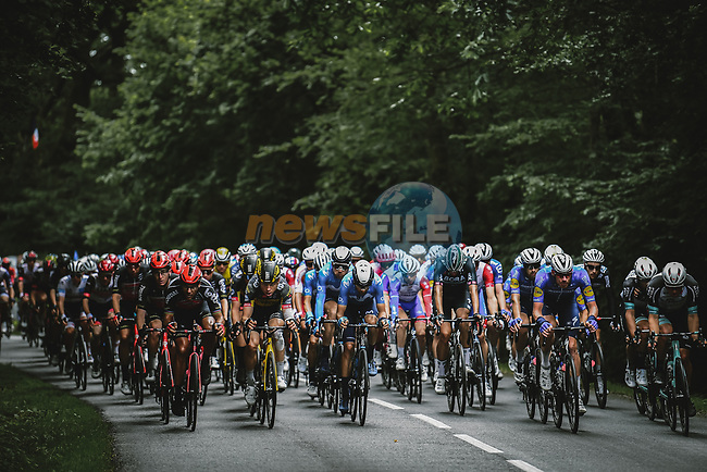 The peloton during Stage 3 of the 2021 Tour de France, running 182.9km from Lorient to Pontivy, France. 28th June 2021.  <br /> Picture: A.S.O./Pauline Ballet   Cyclefile<br /> <br /> All photos usage must carry mandatory copyright credit (© Cyclefile   A.S.O./Pauline Ballet)