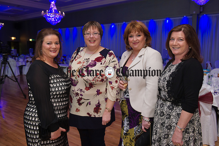Frances Crawford, Catherine Webster, Kate Burke and Caroline Guerin attending the FBD Business Awards at West County Hotel. Photograph by John Kelly.
