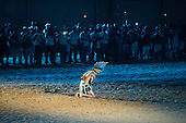 Yuri Pareci carries out a ceremony to bless the Green Arena during the opening ceremony at the first ever International Indigenous Games, in the city of Palmas, Tocantins State, Brazil. Photo © Sue Cunningham, pictures@scphotographic.com 23rd October 2015