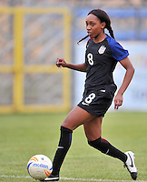 Monfalcone, Italy, April 26, 2016.<br /> USA's #8 Jarret runs with the ball during USA v Iran football match at Gradisca Tournament of Nations (women's tournament). Monfalcone's stadium.<br /> © ph Simone Ferraro / Isiphotos