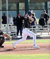 Robert Moore takes part in the 2019 Under Armour Pre-Season All-America Tournament at the Chicago Cubs and Oakland Athletics training complexes on January 19-20, 2019 in Mesa, Arizona (Bill Mitchell)