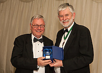 John Gossage won The Nottinghamshire Law Society Lifetime Achievement Awardwhich was presented by Society President Richard Nelson (right)