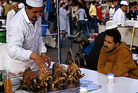 Marrakesh, Morocco - Sheeps' Heads for Dinner, Place Jemaa El-Fna.