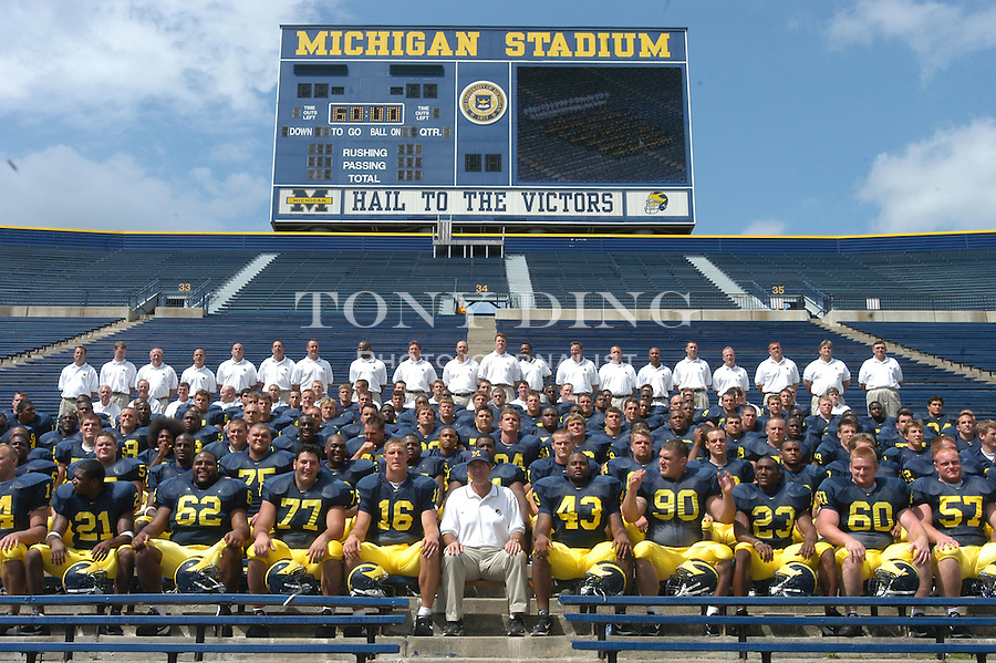 for the annual Michigan Football Media Day at Schembechler Hall on Saturday, August 9, 2003 (TONY DING/Daily).