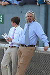 HOT SPRINGS, AR - MARCH 17: Trainer Steve Asmussen watching the post parade before the Rebel Stakes at Oaklawn Park on March 19, 2018 in Hot Springs, Arkansas. (Photo by Justin Manning/Eclipse Sportswire/Getty Images)