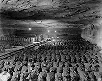 The 90th Division discovered this Reichsbank wealth, SS loot, and Berlin museum paintings that were removed from Berlin to a salt mine in Merkers, Germany.  April 15, 1945.  Cpl. Donald R. Ornitz, USA. (Roberts Commission)<br /> NARA FILE #:  239-PA-6-34-2<br /> WAR & CONFLICT BOOK #:  1101