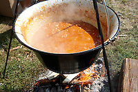 Food being prepared at the Paprika food festival, Kalocsa. Hungary