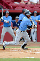 Center fielder Connor Myers (9) of the Old Dominion Monarchs in an NCAA Division I Baseball Regional Tournament game against the Maryland Terrapins on Friday, May 30, 2014, at Carolina Stadium in Columbia, South Carolina. Maryland won, 4-3. (Tom Priddy/Four Seam Images)