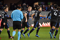 SAN JOSE, CA - MARCH 7: Vako #11 of the San Jose Earthquakes celebrates scoring during a game between Minnesota United FC and San Jose Earthquakes at Earthquakes Stadium on March 7, 2020 in San Jose, California.