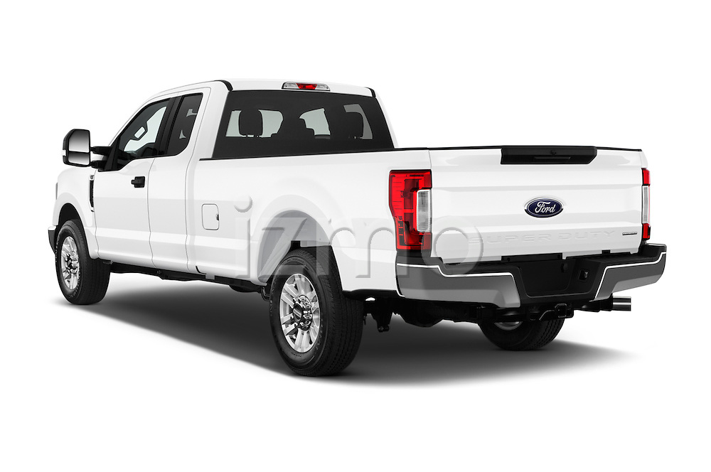 Car pictures of rear three quarter view of 2017 Ford F-350 XLT-Super 4 Door Pick-up Angular Rear
