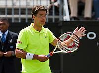 Netherlands, Den Bosch, 15.06.2014. Tennis, Topshelf Open, Jesse Huta Galung (NED)thanks the crowd<br /> Photo:Tennisimages/Henk Koster