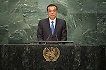 Continuation of the general debate [item 8] Address by His Excellency Li Keqiang, Premier of the State Council of the People's Republic of China <br /> <br /> <br /> General Assembly Seventy-first session 10th plenary meeting<br /> General Debate