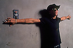 Arcade vocalist, Stephen Pearcy, poses for a portrait session. Pearcy was the singer of the band, Ratt, before forming Arcade.
