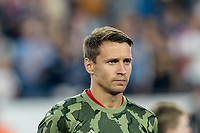 FOXBOROUGH, MA - AUGUST 24: Przemyslaw Frankowski #11 of Chicago Fire during a game between Chicago Fire and New England Revolution at Gillette Stadium on August 24, 2019 in Foxborough, Massachusetts.