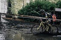 Tom Pidcock (GBR/U23/Telenet Fidea Lions) leading the way through the mud<br /> <br /> U23 Men's race<br /> Superprestige Gavere / Belgium 2017