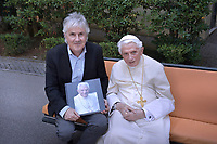 The photographer Stefano Spaziani, meets Pope Emeritus Benedict XVI, in Vatican.July 25, 2018
