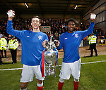 Goalscorers Ryan Hardie and Junior Ogen with the Glasgow Cup