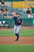 Joseph Rosa (3) of the Tacoma Rainiers during the game against the Salt Lake Bees at Smith's Ballpark on May 16, 2021 in Salt Lake City, Utah. The Bees defeated the Rainiers 8-7. (Stephen Smith/Four Seam Images)